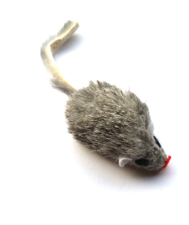 Real Rabbit Fur Mouse Cat Toy - Hard Body