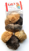 Jumbo Rabbit Fur Pom Pom Cat Toy