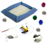 Kitten Starter Kit Cat Toy Cat Bed Combo