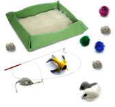 Kitten Starter Kit Cat Toy Cat Bed Combo - green