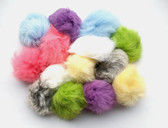 Real Rabbit Fur Ball Cat Toy (pom poms)