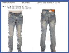 Men's fashion stretched denim jeans #KE01