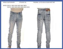 Men's fashion stretched denim jeans #KE02