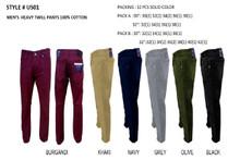 MEN'S FASHION HEAVY  TWILL PANTS US01