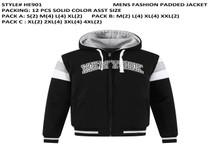 Men's Fashion Padded Jacket black-HE901