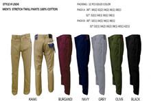 MEN'S FASHION STRETCH TWILL PANTS US04