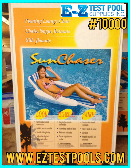 10000 sunchaser floating lounge chair by swimline