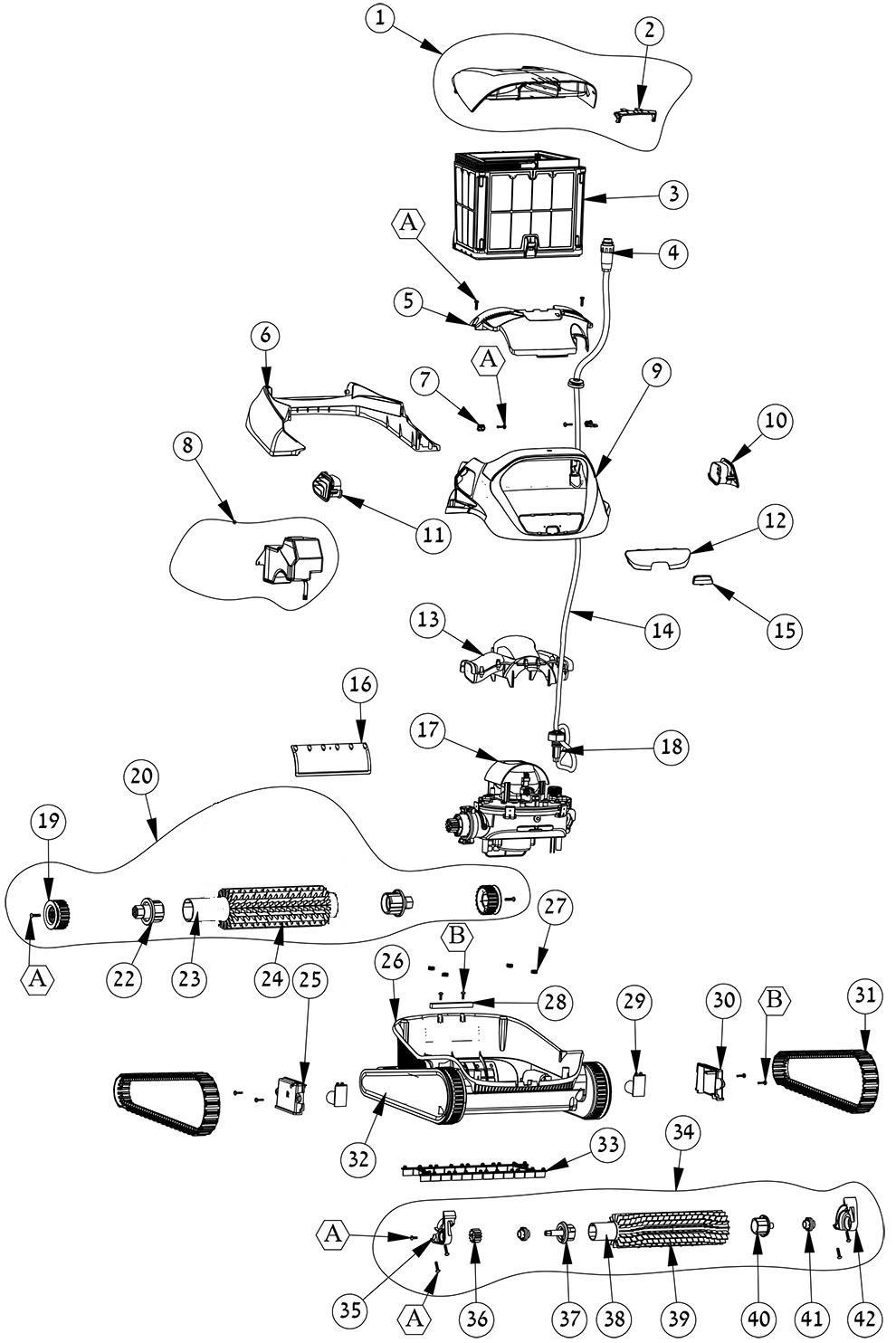 Dolphin Active 20 Parts Diagram E Z Test Pool Supplies