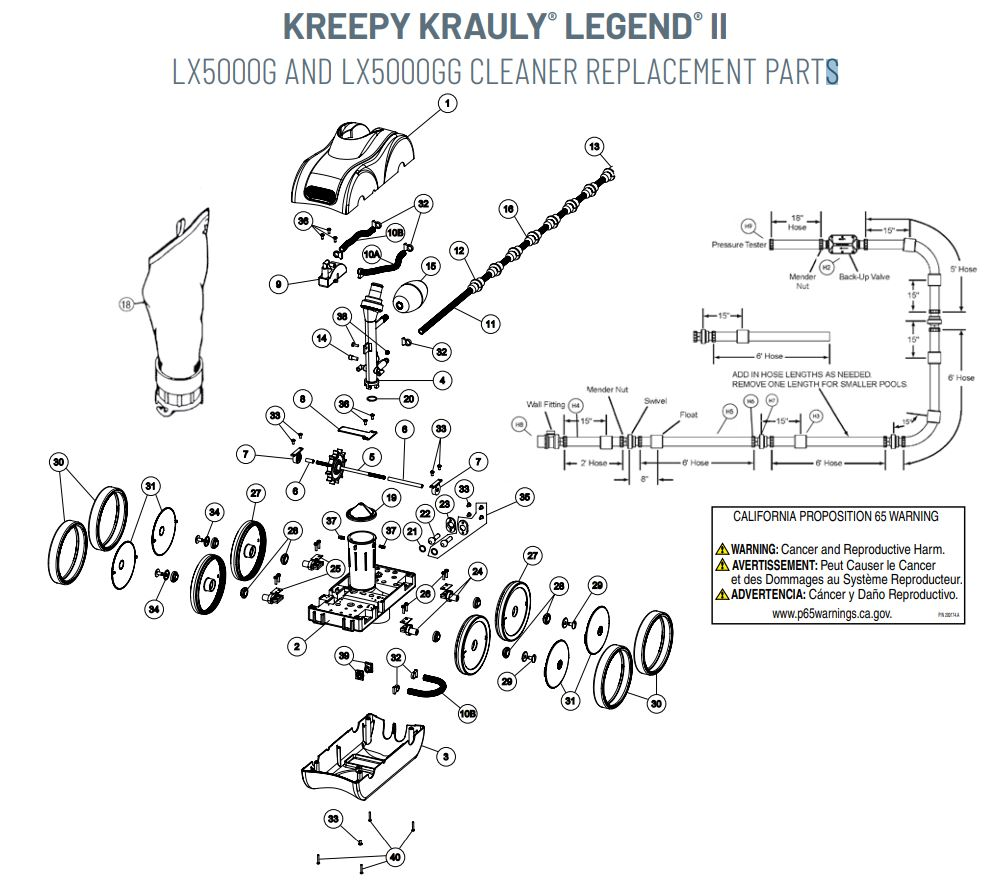Pentair Kreepy Krauly Legend II Back-Up Valve LX10