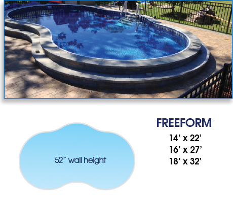 Radiant Freeform Above Ground Pool
