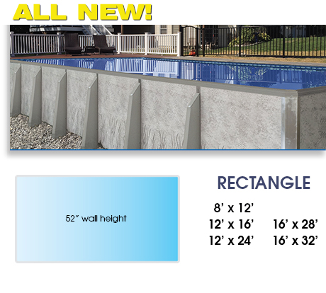 Radiant Rectangle Above Ground Pool