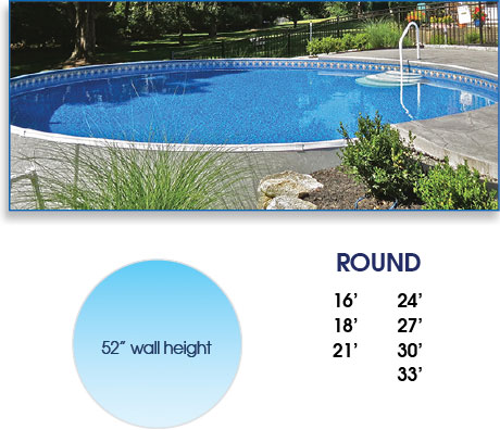Radiant Round Above Ground Pool
