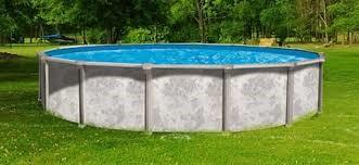 metal rolled-wall pool