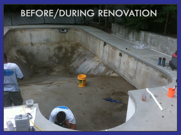 swimming pool renovation in NH, MA