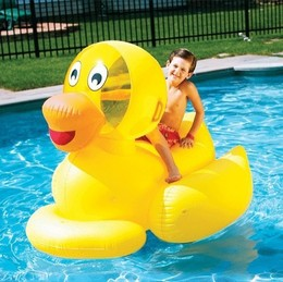 Giant Inflatable Ducky by Swimline available at www.eztestpools.com