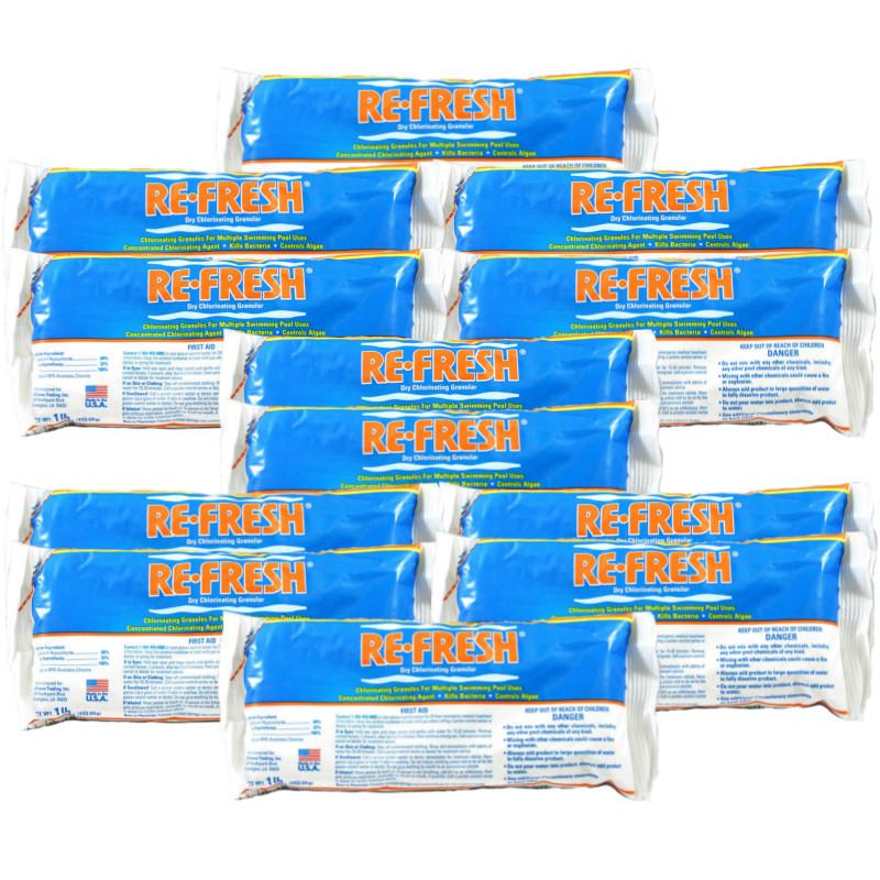 Re-Fresh Chlorine Pool Shock - 12 X 1 lb. bags (25284-12)