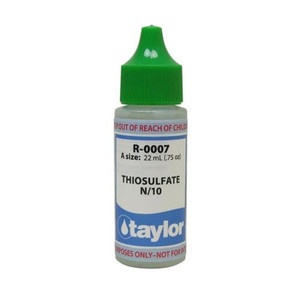 Taylor Thiosulfate #7 Reagent N/10 - 3/4 Oz. Dropper Bottle (R-0007-A)