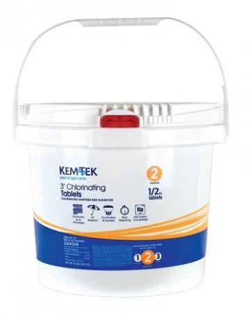 """Kem-Tek 24# Power 99 3"""" Chlorinating Tablets (26439047466)"""