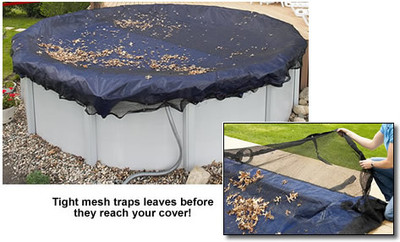 """GLI 21"""" Round Above Ground Leaf Net Pool Cover (45-0021RD-LNT)"""