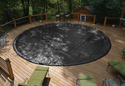 GLI 15' Round Above Ground Classic Pool Cover w/ 4' Overlap (45-0015RD-CLA-4-BX)