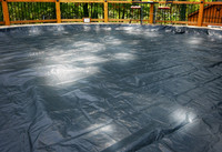 GLI 24' Round Above Ground Estate Pool Cover w/ 4' Overlap (45-0024RD-EST-4-BX)
