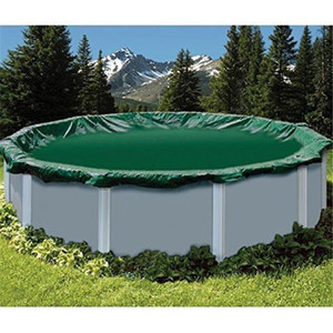 Swimline 30' Round Ripstopper Above Ground Pool Cover w/ 4' Overlap (RIG30)