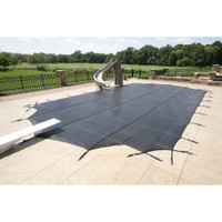 GLI ProMesh Grecian 18'6 x 36'6 (4 x 8 Center Step) Gray Inground Safety Cover (20-1836GR-CES48-PRM-GRY)
