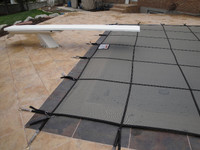 Secur-A-Pool Mesh 20' X 40' 4X8 (Rect.) Gray Inground Safety Cover (20-2040RE-RHSF48-SAP-GRY)