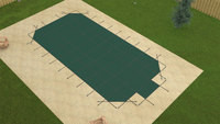 Merlin Safety Solid W/Mesh Panel Grecian 20'9 X 39'9 4X8 Ctr. Green Safety Pool Cover (53W-X-GR)