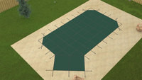 Meyco RuggedMesh Grecian 16'6 X 35'6 4X6 Lt. Green Safety Pool Cover (MEYG1635LHCRM)
