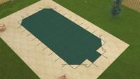 Meyco RuggedMesh Grecian 18' X 37' 4X8 Ctr. Green Safety Pool Cover (MEYG183748CESRM)