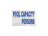 National Stock Sign Pool Capacity Sign (Sw-15)