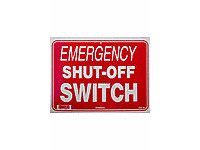 National Stock Sign Emergency Shut-Off Switch Sign (Sw-40)