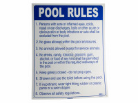 National Stock Sign Pool Rules Sign (1824Az)