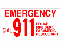 Poolstyle Emergency Dial 911 Sign (Ps231)