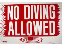Poolstyle Sign No Diving Allowed (Sw-13)