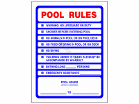 Poolstyle Sign Pool Rules (Ps233)
