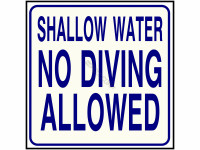 Poolstyle Sign No Diving Sc Approved (Ps237)