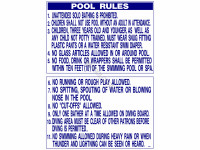 Poolstyle Sign Pool Rules Georgia (Ps241)