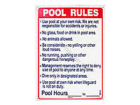 Poolstyle Pool Rules Sign (Sw-2)