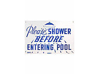 Poolstyle Please Shower Sign (Sw-11)