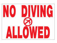 Poolstyle Texas Sign No Diving Allowed (Ps244)