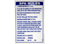 Poolstyle Sign Florida Spa Rules (Fl-4)