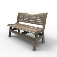 Sister Bay Newport 48″ Bench with Back (MNEW-BWB48)