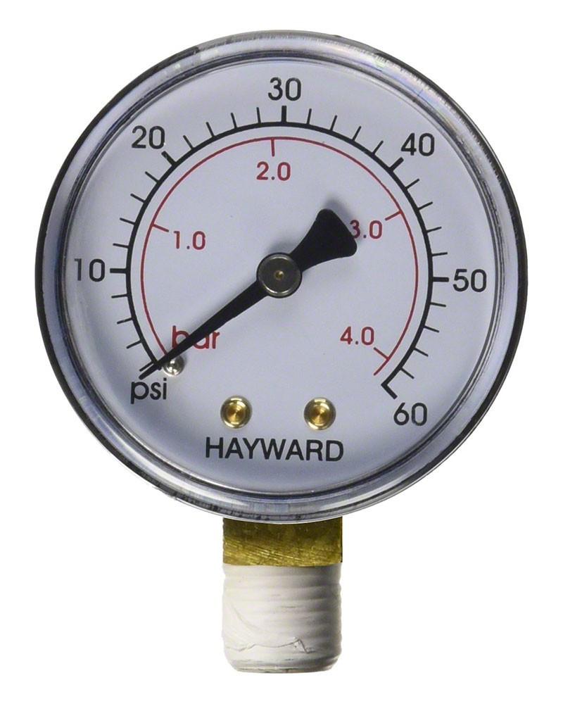 "Pool Spa Filter Water Pressure Gauge 60PSI Side Mount 1//4/"" Inch Pipe Thread"