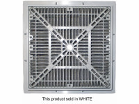 "Custom Molded Products Square Pool Drain Frame-Grate 12"" x 12"" VGB, White, 25508-120-000L (CTM-25-8189)"