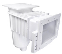 Custom Molded Products Vinyl Liner Skimmer; Square Cover; Dual Port; White, 25160-010-000 (CTM-25-0154)