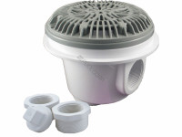 Custom Molded Products 8 in. Galaxy Main Drain with Anti-Vortex Lid, Gray,  25515-001-000