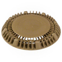 "AquaStar 8"" Round Super Low-Profile Anti-Vortex Cover/Mud Frame with Vented Riser Ring, Tan, LP8AVWR108 (API-25-1442)"