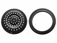 Super-Pro 8 in. Round Anti-Vortex Main Drain Frame & Grate Black SG640-2311VC (SPG-25-8001)